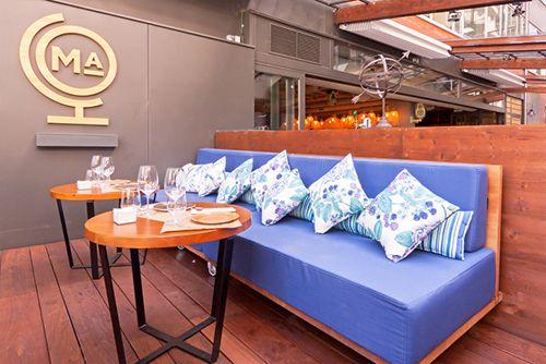 terraza sofa restaurante marieta madrid castellana