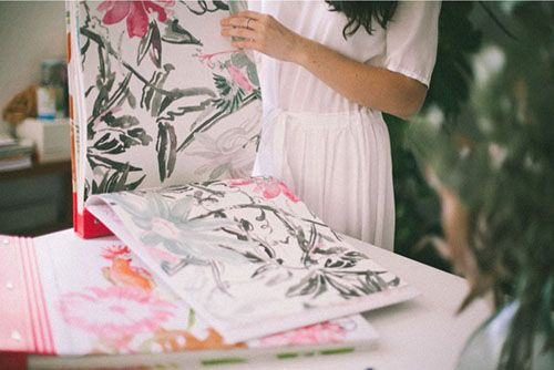lara costafreda coordonne papel pintado ilustracion