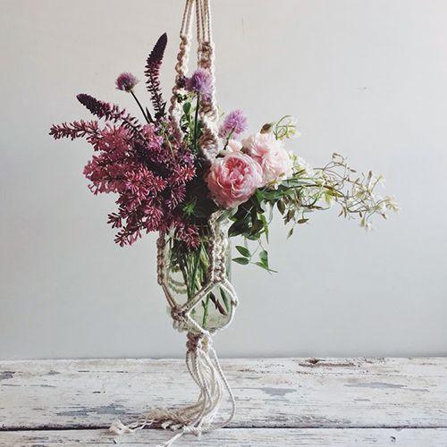 macrame tendencia decoracion bohemia colgados maceteros