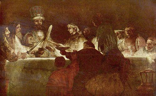 Rembrandt el juramento de los batavos museo nacional de estocolmo