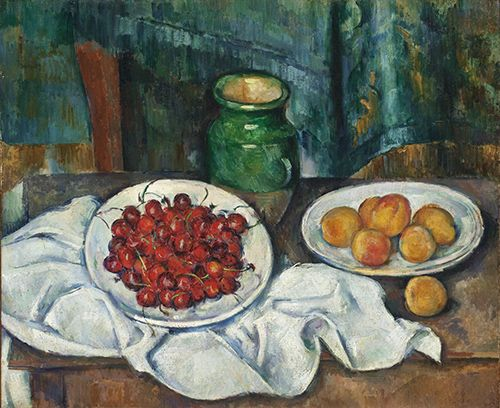 paul cezanne cerezas melocotones cuadro los angeles county museum of art