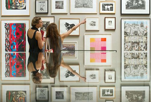 People view some of the art on display at the British Royal Academy of Arts' Summer Exhibition 2011 in central London, on June 2, 2011. The 243rd Summer Exhbition opens to the public on June 7 and runs until August 15, 2011. AFP PHOTO/Leon Neal (Photo credit should read LEON NEAL/AFP/Getty Images)