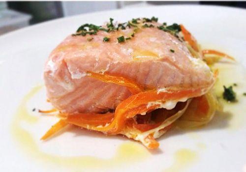 salmon plato restaurante six madrid