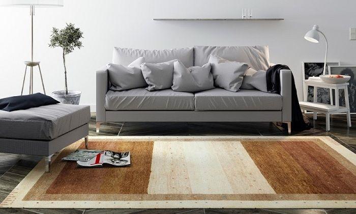 alfombra bicolor