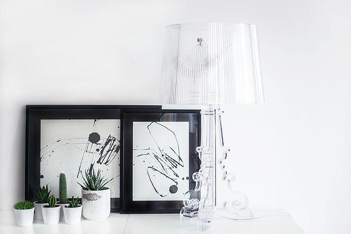marco negro lampara metraquilato