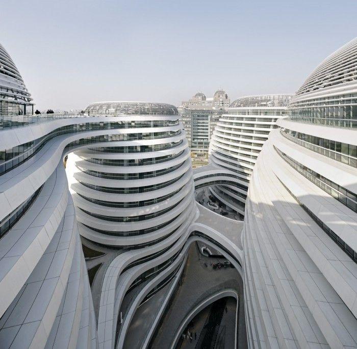 edificio galaxi soho de zaha hadid en pekin china