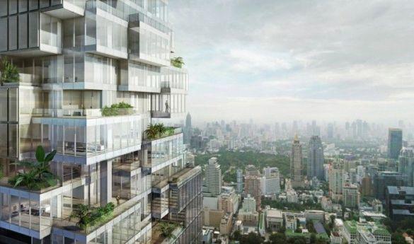 maha nakhon bangkok tailandia rascacielos pixelado pixeles edificio sorprendente