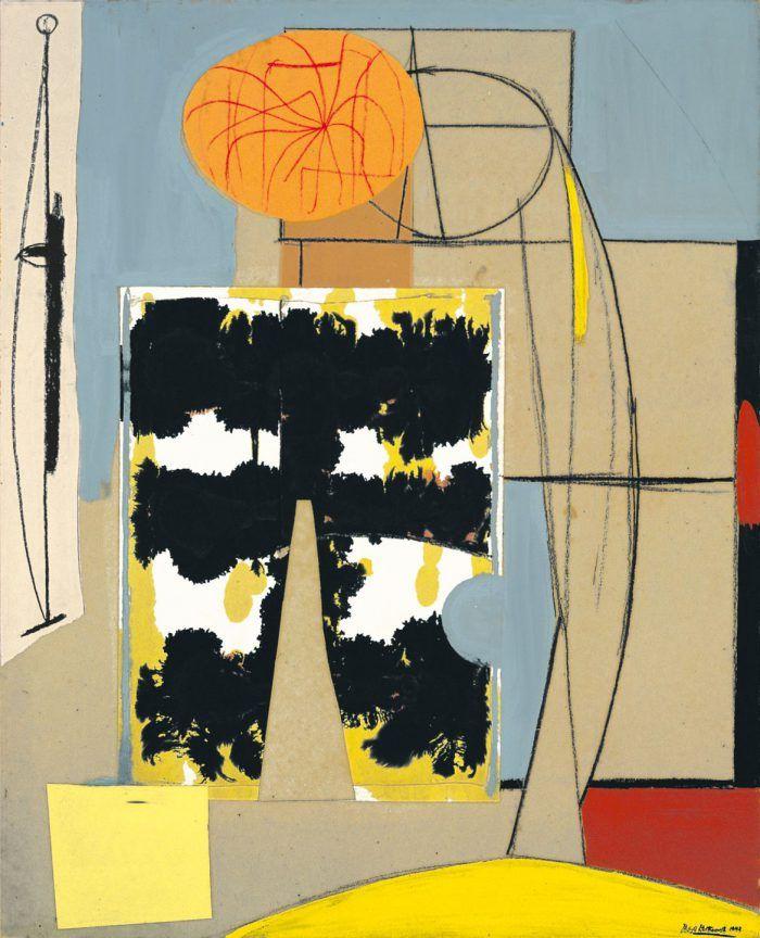 robert motherwell collage pintura artista expresionismo abstracto action painting nueva york americano