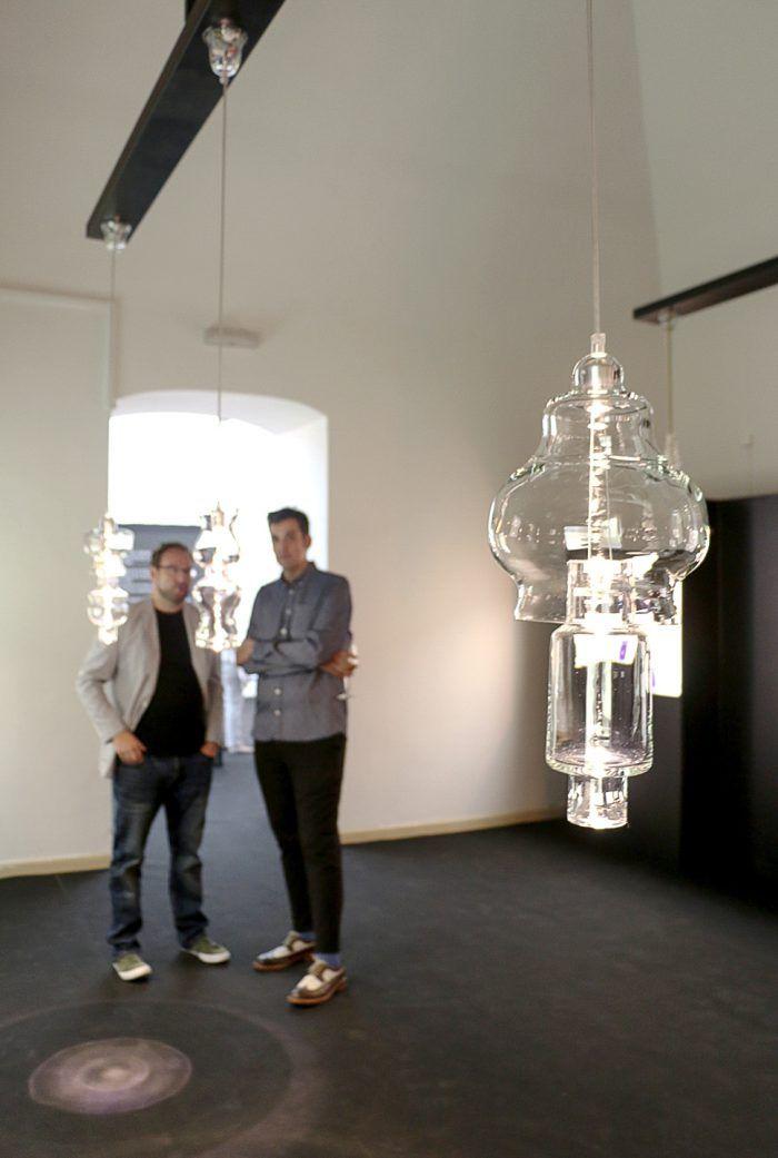 lamparas cristal diseño jarrones