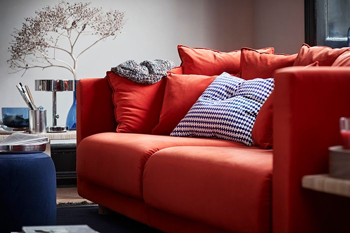 sofa naranja ikea stockholm