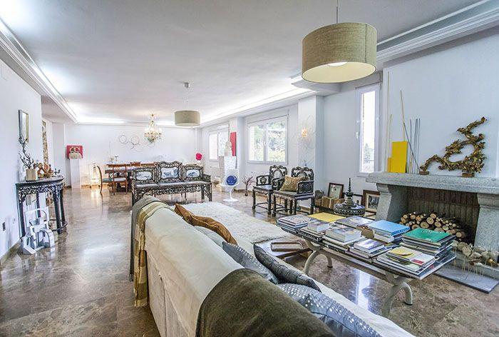 salon diafano en piso exclusivo de madrid