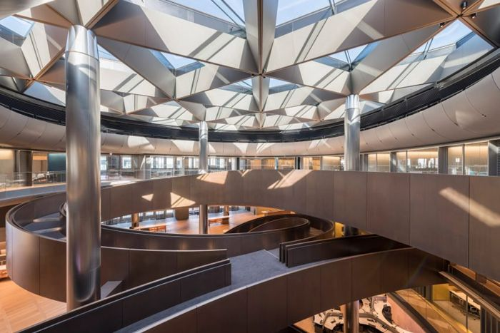 estructura metalica arquitectura moderna sede empresas