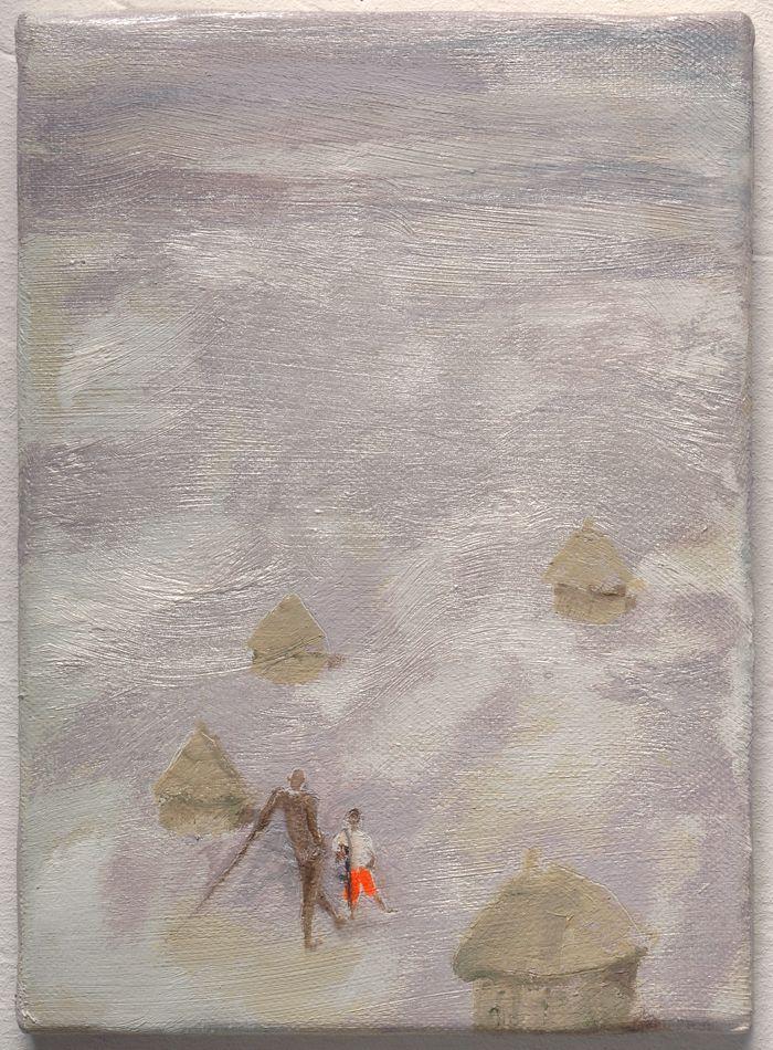pintura cabañas chamizo ambiente grisaceo