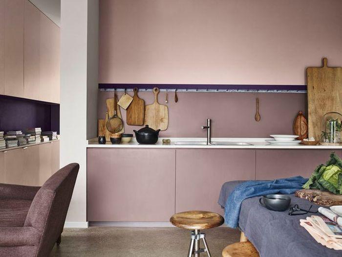 cocina, taburete, tablas de madera, fregadero