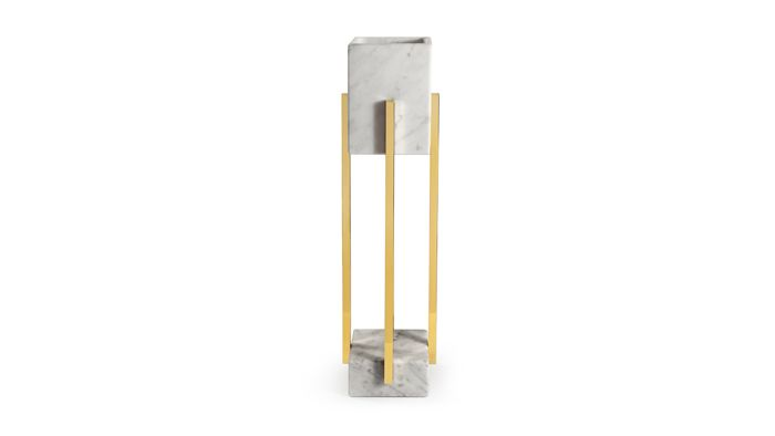 lampara mármol columnas bronce