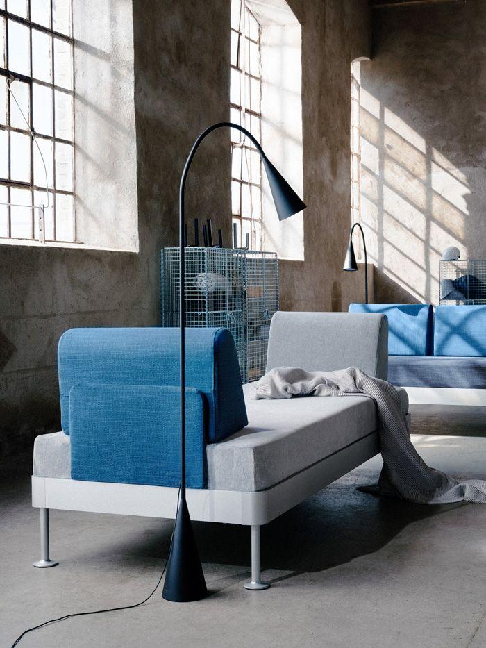 chaise longe azul y gris IKEA