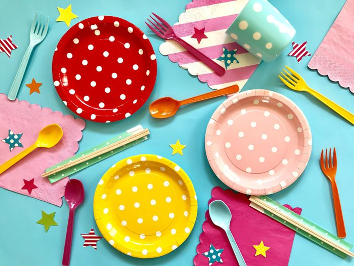 platos decorativos fiesta