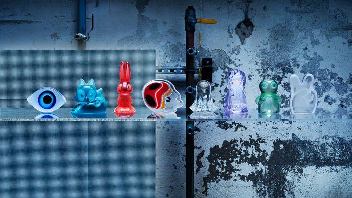 """IKEA Art Event 2018. Arte democrático en vidrio con forma de """"art toys"""""""