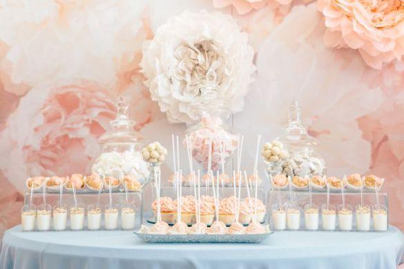 mesa dulces boda rosa