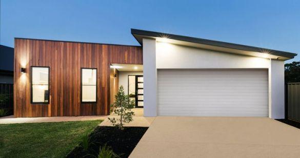 fachada casa moderna madera y blanca