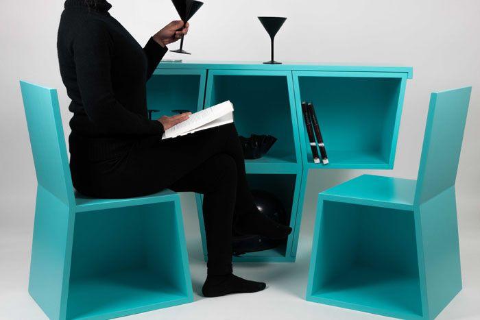 mueble modular silla mesas diseño