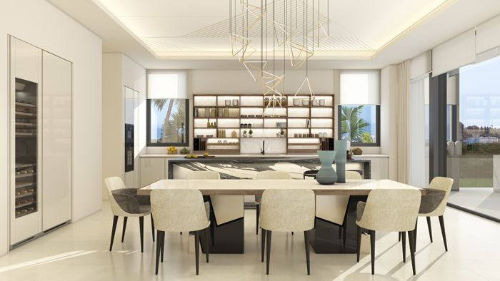 comedor vivienda lujosa en Marbella