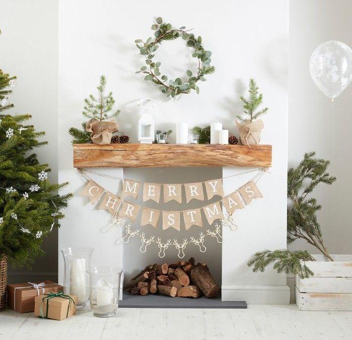 Decoración de chimeneas en Navidad