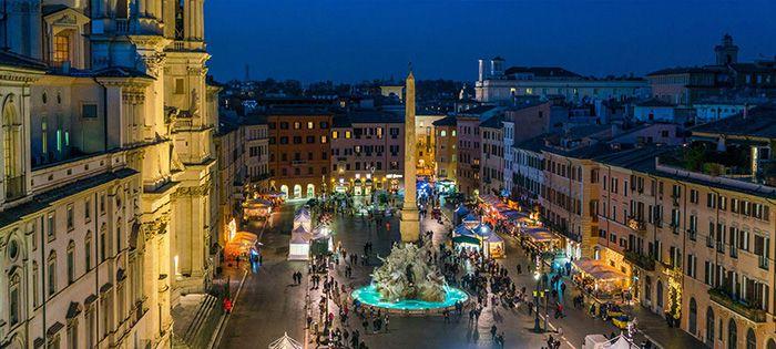 mercadillos navideños en roma