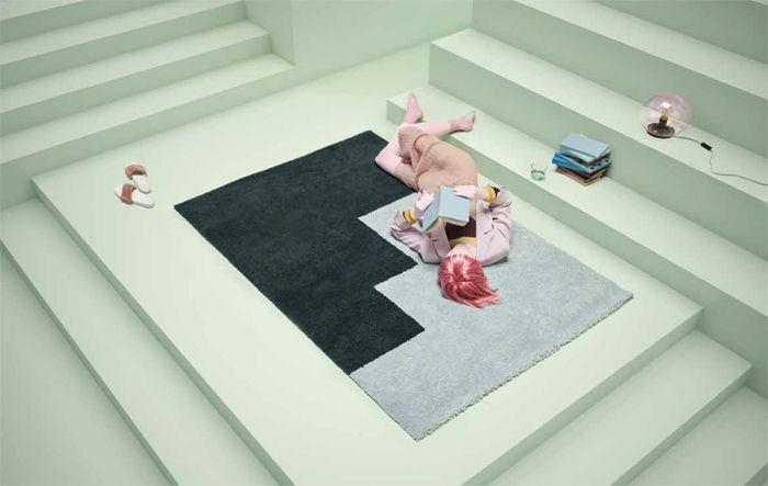 alfombra bicolor ikea