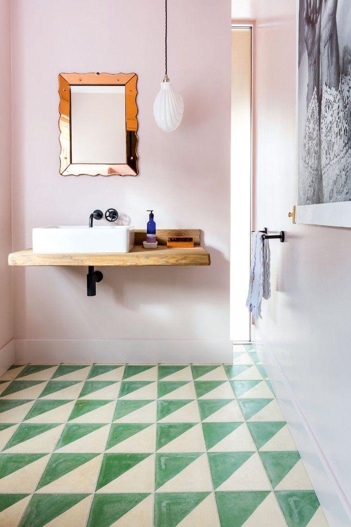 Reforma baño en madera y verde