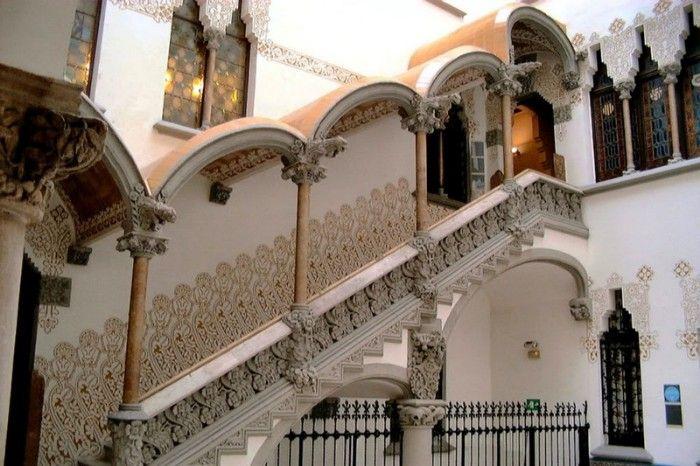 casa macaya escalera arquitectura modernista