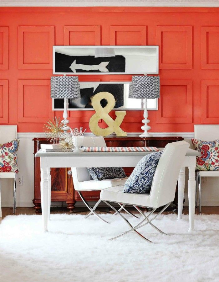 despacho pared color coral