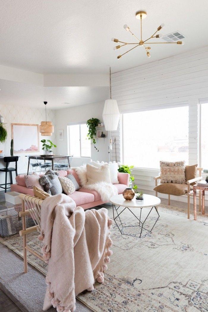 salón en rosas diseño de interiores
