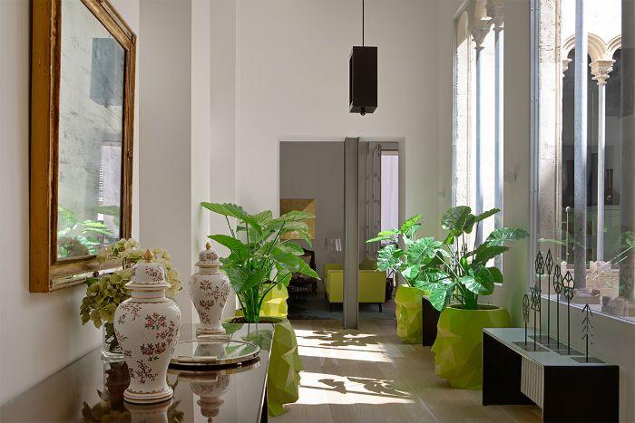 plantas pasillo decoracion