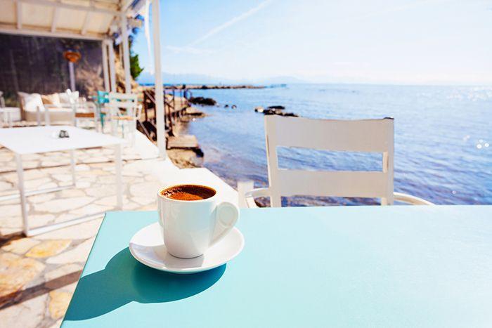 cafe griego mediterraneo
