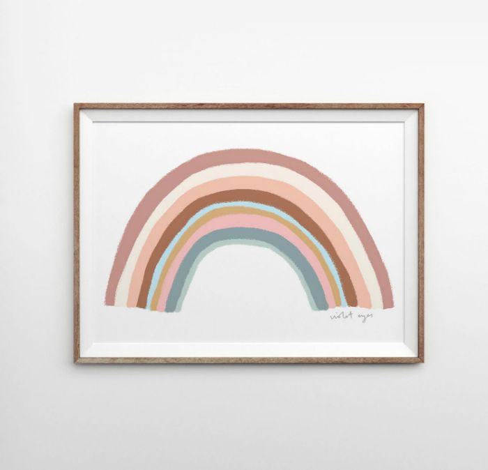 marco arco iris tonos pastel
