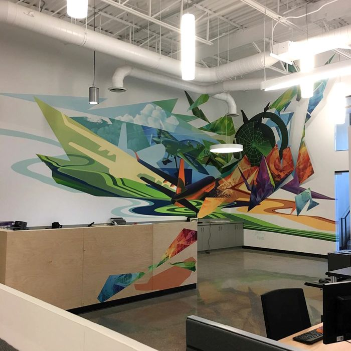 Graffiti para oficinas Globalvision