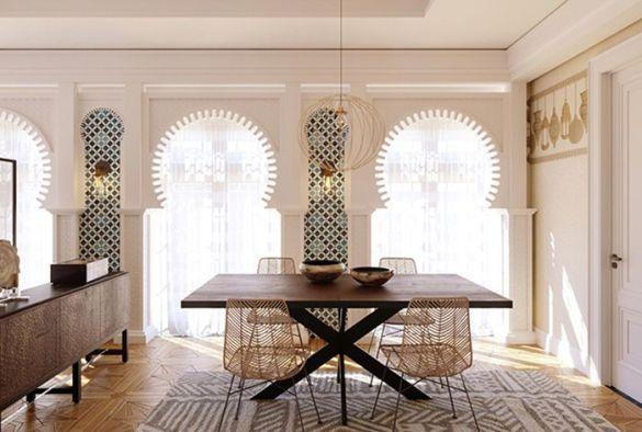 ventanas arabescas con teselas oriente