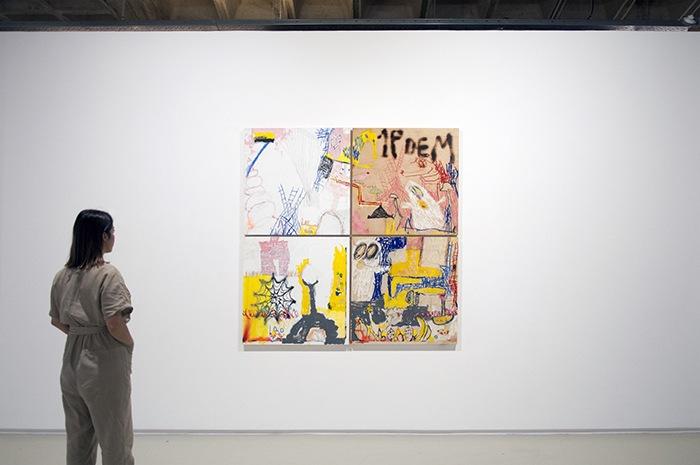 Arte Contemporáneo cuadro 4 cuadros
