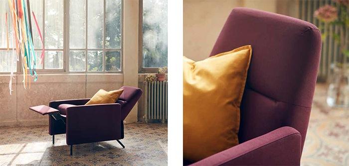 Sillon reclinable elegante moderno oscuro