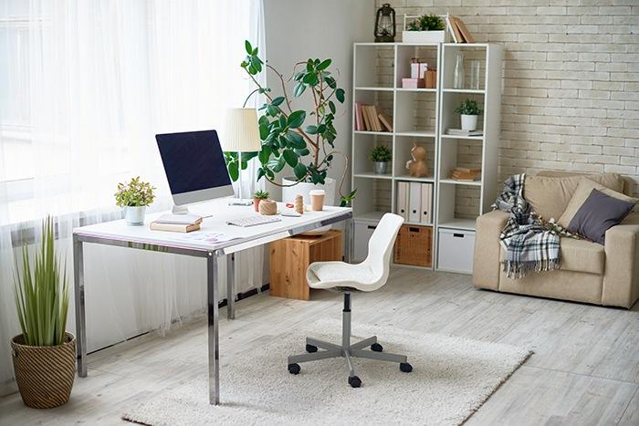 neurodiseño plantas en despacho casero