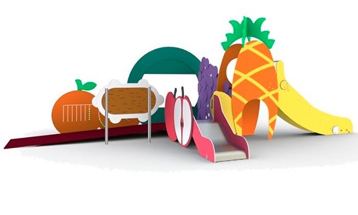 Mobiliario urbano Parque infantil frutas