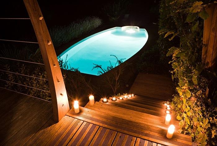 jardin con teka velas