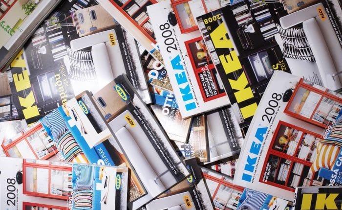 catálogos IKEA para reciclar