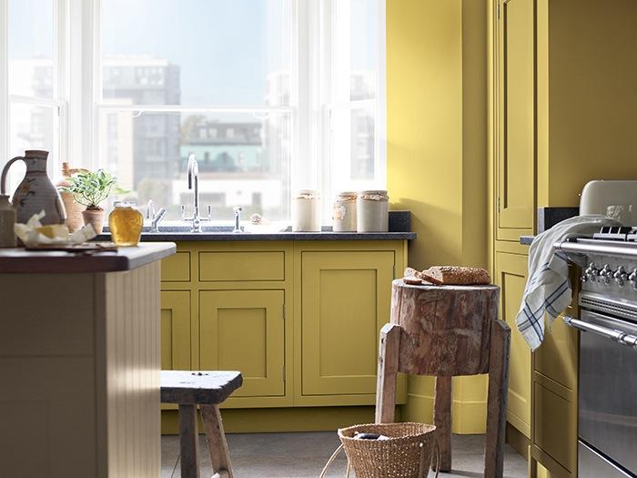 cocina colores calidos amarillos