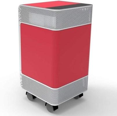 Purificador de aire moderno y rojo