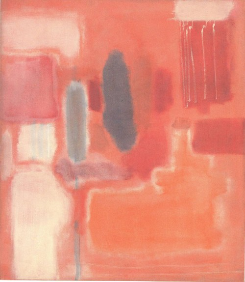 cuadro abstracto rothko rosas