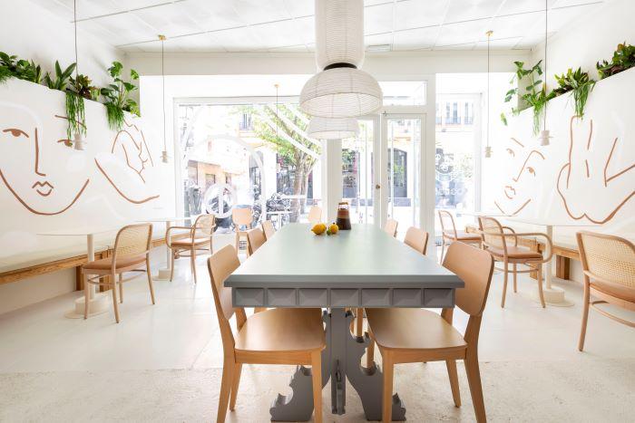 Cafetería Agrado, interior