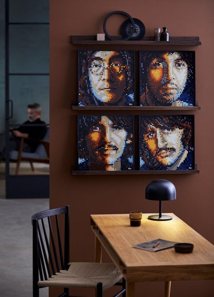 Cuadro de los Beatles en LEGO