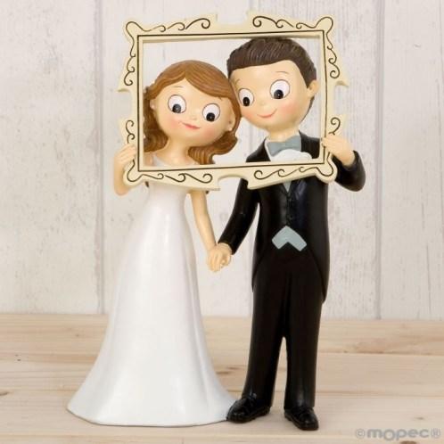 Figura para tartas de bodas novios tipo Photocall
